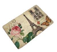 Tapis Cammitever Vintage World European Campagne Campagne Tour Paris Papillon Chambre à coucher Tapis Salon Salon Tapis Slip Players Résistance