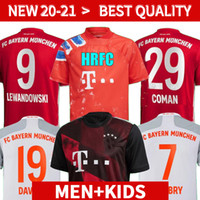 20 21 Bayern Münih Coutinho Futbol Forması Lewandowski Muller Hernandez 2020 2021 Futbol Gömlek Erkekler + Kids Kit 120th Yıldönümü Munche
