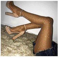 Niñas Summer FishNet Diamond Pantyhose Fashion Shiny Net Protights Rhinestone Mesh Nylon Medias Medias Sox 3 colores 469 K2