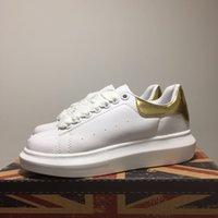 2020 Outono e Inverno Sapatos Brancos Coringa Esponja Bolo Plataforma Couro Casual Sapatos