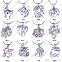 12 Constellation Pearl gaiola medalhão pingentes sem corrente diy amor pérola colar zodíaco signs charme pingentes montagens