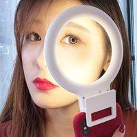 유니버설 셀프 램프 휴대 전화 렌즈 휴대용 플래시 LED 링 클립 라이트 사진 카메라 잘 스마트 폰 아름다움