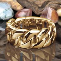 الأزياء الفضة الذهب بلون مغاير سلسلة حلقة الهيب هوب النساء الرجال الفرقة خواتم الأزياء والمجوهرات وسترندي هدية