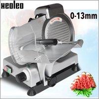 Fleischschleifer Xeoleo Commercial Slicer Electric Hobel Gefrorene Fett-Rinder- / Hammelfrüchte Halbautomatische Skischmaschine 8 Zoll