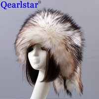 Qearlstar Man Frauen-Pelz-Hüte 2020 verdicken warmer Pelz Faux-Pelz-Flat Top Caps Winter-russische Casual Luxury skullies Mütze ZKG33
