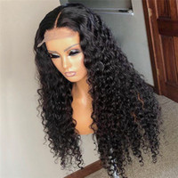 Curly 5x5' ' Silk Top Lace Front Human Hair Wigs Fo...