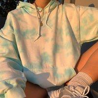 Rapwriter Casual Uzun Kollu Batik Hoodie Harajuku Oversize Kazak Mavi Kış Giyim Moda Kazak 201.008 Streetwear Tops