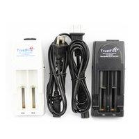 Authentisches Trustfire TR001 Batterieladegerät für 18650 16450 14500 18350 Wiederaufladbare Batterien US UK EU AU-Plug DHL FedEx