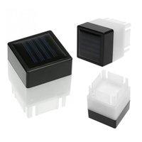 DHL ao ar livre solar pós-tampão luz solar pilar movido à luz 50mm impermeável Crestech