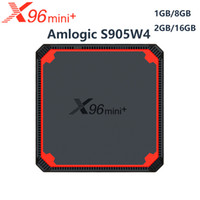 X96 Mini Plus Android TV Box X96Mini Android 9.0 Smart TV Box 2GB 16 Go Amlogic S905W4 Quad Core 2.4G 5G WIFI 4K Set Top Boîte supérieure