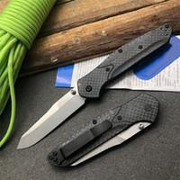 Mariposa en CUCHILLO BM940-1 Manija de fibra de carbono D2 Blade Axiss Tactical Rescate Bolsillo Cuchillo Plegable Cuchillo Pesca EDC Survival Tool A3017