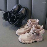 Ragazzi ragazze martinbooots piattaforma in pelle piattaforma anti-skid corta caviglia stivali autunno inverno bambini adolescente casual gomma sogliola scarpe botas1