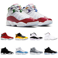 6 6 S Yüzük Erkekler Basketbol Ayakkabı Kadın Sneaker South Beach Bred Concord Erkek Eğitmenler Spor Sneakers