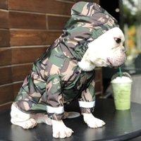 Ropa para impermeable para perros de mascotas para perros grandes Camuflaje de camuflaje Ropa impermeable Lloviendo Perro Perro Abrigo de lluvia Disfraces al aire libre Bulldog Francés 201030