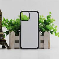 Em branco 2D Sublimação TPU PC Phone Case para iPhone 12 11 Pro Max 7 8 Plus XR XS Max para Samsung S21 S21ultra S21Plus com inserções de alumínio