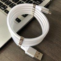 Hızlı Manyetik Kendini Sarma USB C Cep Telefonu Magnet için Şarj Kablosu Otomatik Adsorpsiyon Kablosu Tip-C Mirco USB Şarj Kablosu Tel
