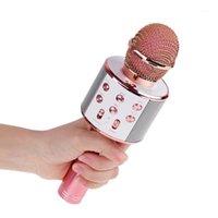 Microfono Professionale Bluetooth Wireless Karaoke Speaker Player Music Player Singing Mic Recorder Microfono Microfono Microfono KTV 1800Mah1