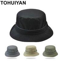 Cloches Tohuiyan Водонепроницаемая нейлоновая шляпа Мужчины мужчины Женщины легкий складной Sombrero Caps Spring Летние УФ Защита рыболова Sun Hats
