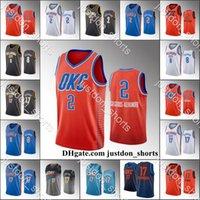 Homens Oklahoma.CidadeThunder Basketball Jerseys Shai Gilgeous-Alexander Danilo Gallinari Dennis Schroder CityAzulEdição nova camisas uniformes de moletom