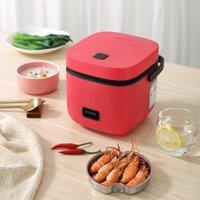 مصغرة طنجرة الأرز 1.2L شاحنات السيارات الحساء الكهربائية عصيدة آلة الطبخ الغذاء باخرة دفئا سريع التدفئة مربع الغداء