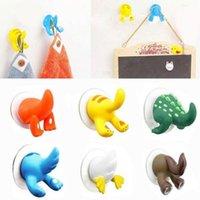 Krokar skenor härlig tecknad djur svans form sucker kök badrum vägg krok stark vakuum sugkopp