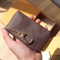 Projeto de luxo de alta qualidade portátil chaveiro P0Uch carteira clássico homem / mulheres moeda bolsa bolsa de bolsa com saco de pó e caixa