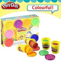 Original Play Doh Colorido Bonecas de Argila Infantil Plasticina 8 Cor Terno Mão Feito Diy Brinquedos Ferramentas de Moldagem Família Print 201226