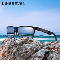 KingSEVER Marca Gafas para hombre Gafas de sol polarizadas cuadradas UV400 Lente Accesorios para gafas de gafas de sol para hombres / mujeres1