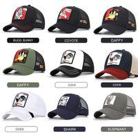Moda Hayvanlar Nakış Beyzbol Erkekler Kadınlar Snapback Hip Hop Şapka Yaz Nefes Mesh Güneş Gorras Unisex Streetwear Bone Caps