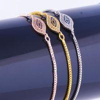 Charm Armbänder Juya handgemachtes glück blaues Kristalle Kleines böses Auge für Frauen Männer Klassische Einstellbare Ketten Liefert