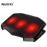 Nuoxi Gaming Refrigerador para portátiles 3 ventiladores grandes Pista de enfriamiento portátil Soporte ajustable DUAL USB LED Retroiluminado Retroceso Cooler1