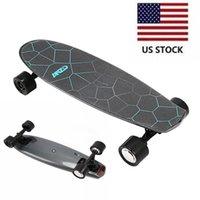 Высокое качество черный портативный мини электрический скейтборд без дистанционного управления Классический 4 колеса скейтборда США со W34815709
