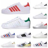 adidas stan smith superstars superstar 2021 Plano Formadores calçados casuais das mulheres dos homens novos sapatos da moda tênis superstars astro do esporte branco de couro preto