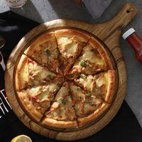 Yuvarlak Kare Ahşap Kesme Kurulu Büyük Ahşap Pizza Tepsi Ekmek Tahtası Kek Plaka Tepsi Mutfak Doğrama Kurulu Ahşap Eşyaları T200323