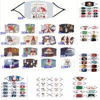2020 взрослых и ребенка Санта-Клаус Cap Снеговик мультфильм Pattern Регулируемая маска фильтр может быть установлен Олени Xmas Tree HH9-3233