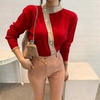 LLZACOOOSH Новая осень зима женская O шеи свитера корея шикарные кнопки короткие кардиганы мода женские трикотажные одежды1