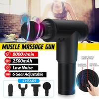 Più nuovo 8000R / min Massage Gun Gun Sports Recovery Fascia Fitness Esercizio muscolare dolore sollievo massaggiatore profonda vibrazione
