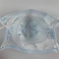 Soporte de máscara de captura de máscara de marco de PP 3D para protección de lápiz labial de protección suave y cómoda respiración lavable reutilizable máscaras de cara sup