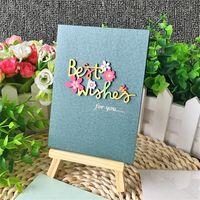Carte de vœux manuelle de sculpture de bois Mini de félicitations de haute qualité Mini Creative Applique Douflique Bénédiction Beautiful Sell Well 1 28AY J1