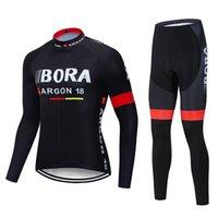 2020 보라 팀 사이클링 유니폼 (턱받이) 사이클링 저지 젤 패드 자전거 세트 MTB Sobycle 긴 Sleevess 로파 Ciclismo 남성 자전거 착용 B9