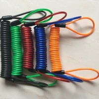 Por DHL 200pcs 1.2m 1.5M Motorycle Protection Protection Security Reminder Motorbike Casco Bloqueo de la cuerda Cuerda de la cuerda Cable de alambre de acero