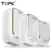 Topk LED مصباح Auto-ID الهاتف المحمول الهاتف المحمول 12 12 شاحن متعدد المنافذ euus التوصيل شاحن USB 2 3 4 USB شاحن الجدار تارفيل محول FY7474