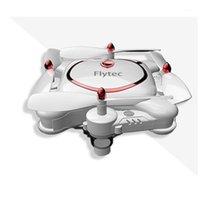 Drones Flytec T16 Складной Pocket Pocket RC Drone Quadcopter Высокая четкости WiFi Пульт дистанционного управления Самолет Позиционирование Оптический поток1