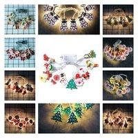 Рождество светодиодные Строка Мультфильм Xmas Tree Motif 1,65 10 LED / 3m 20 LED Рождество Наружное освещение партии украшения 11 стилей T2I51624