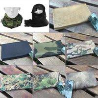 Cappellini da ciclismo Maschere da uomo escursionismo per escursioni da esterno Sciarpa Traspirante Fascia Fascia Mesh Jungle Silenziatore Camping Tactical Camouflage