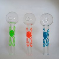 OB003 Octopus Glass Oil Burner Pipe 101mm 4in Length Luminou...