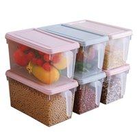 المطبخ ثلاجة تخزين مربع الحبوب الفاصوليا المنظم الحاويات المنظم المنظم الغذاء الخضروات الحاويات صناديق تخزين 201022