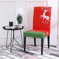 Restaurant Chair Cover Polyesterfaser (Polyester) Party Weiche Material Weihnachtsstuhlabdeckung Dining1