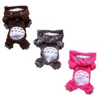 Soft Warm Cat Roupas Roupa Pet Fato Fleece Roupas para Cachorros Cachorrinho Desenhos Animados Desenhos Animados Inverno Com Capuz Casaco Autumn Apparel XS-XXL