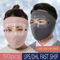 Hiver chaud en plein air Masque à vélo équitation visage épais oreille cou chaud coupe-vent anti-poussière visage Masques bouche FY9223